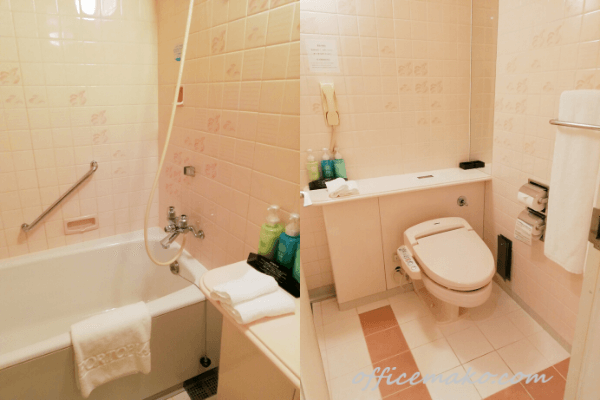 神戸ポートピアホテル客室内バスルームの画像