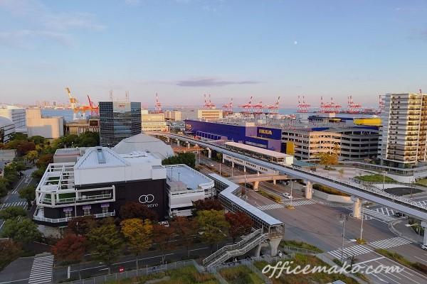 神戸ポートピアホテルのバルコニーからの景色の画像