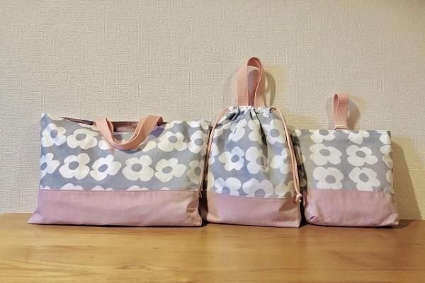 保育園で使うバッグの画像