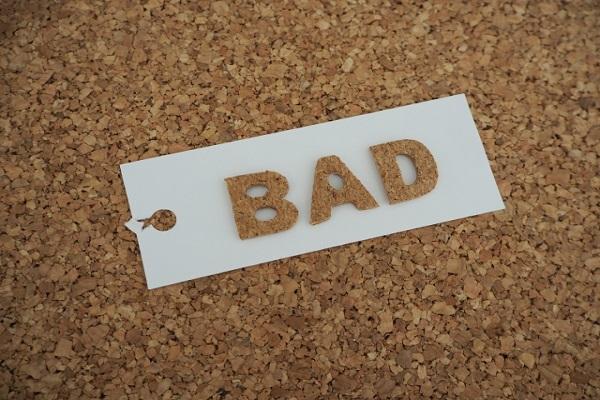 BADと書いてあるタグの画像