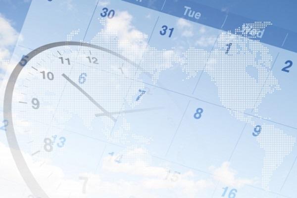 時計とカレンダーの画像