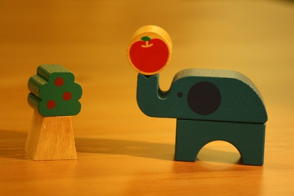 ゾウの積み木の画像