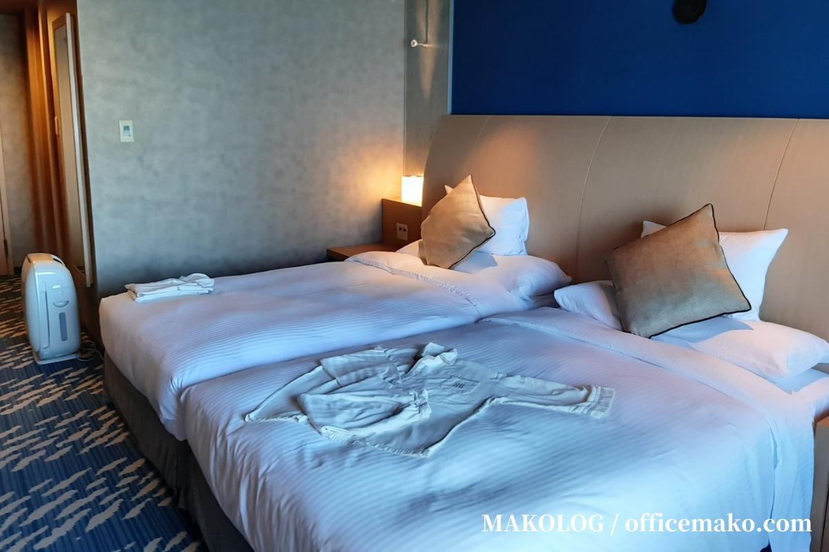 リーガロイヤルホテル大阪のナチュラルコンフォートフロア客室ベッド