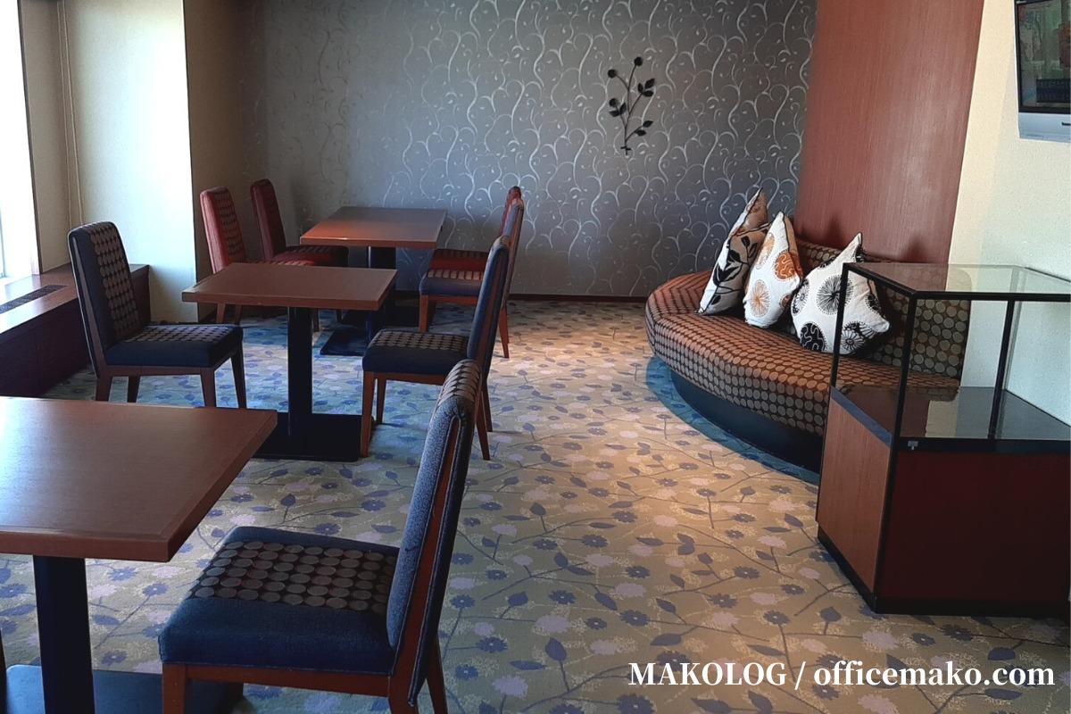 リーガロイヤルホテル大阪のカフェラウンジのソファ