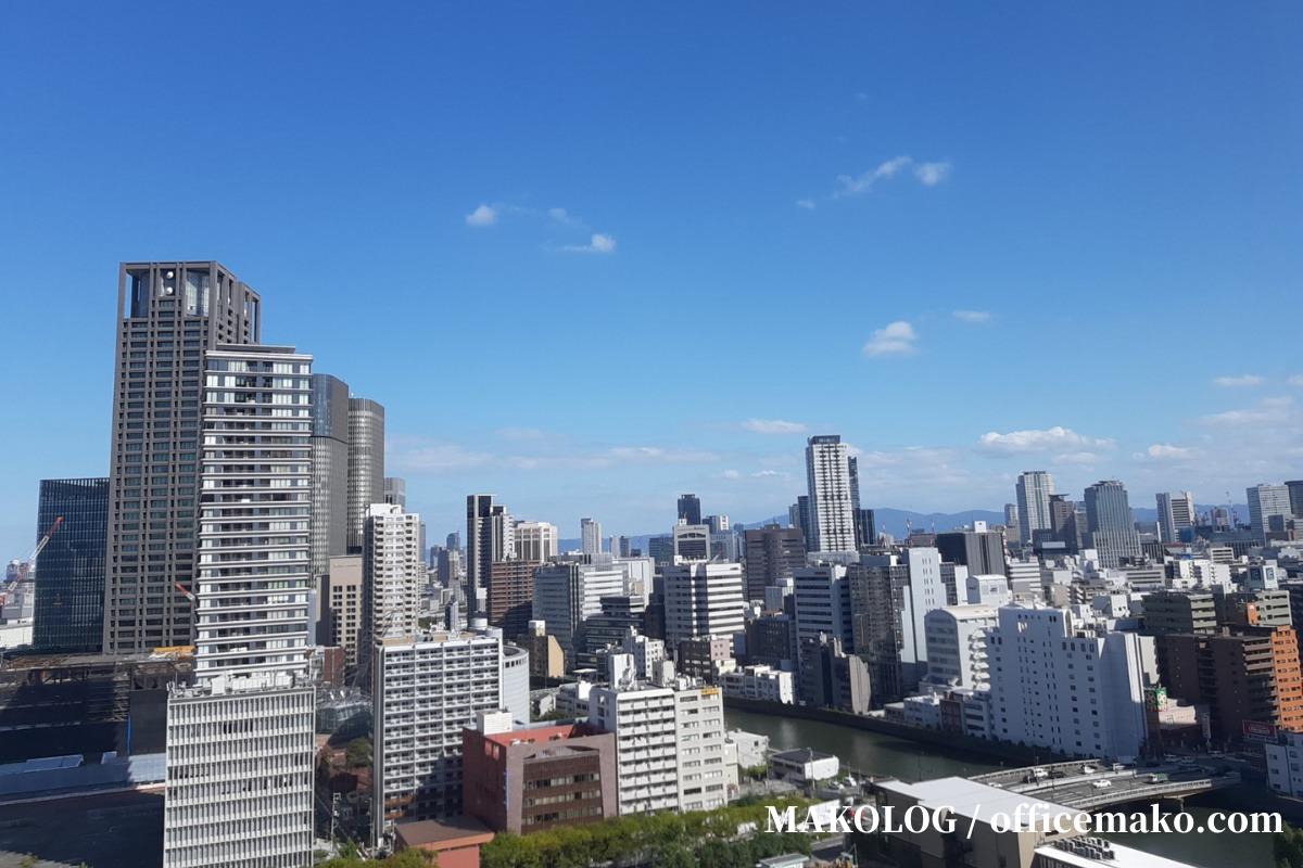 リーガロイヤルホテル大阪の客室からの眺め