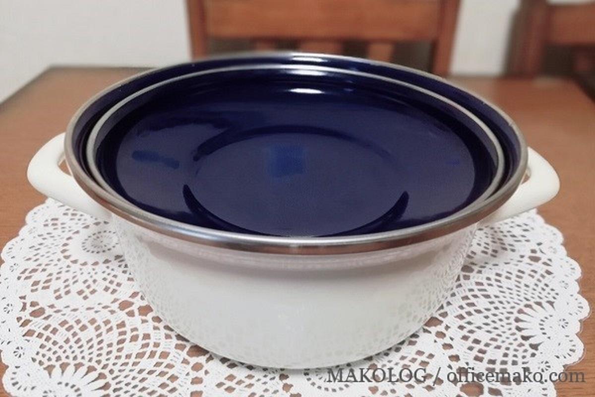 ホーロー鍋の画像