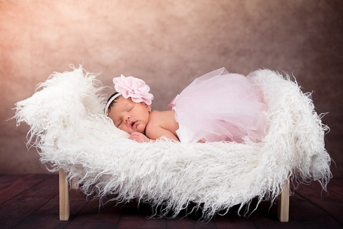 赤ちゃんが眠っている写真
