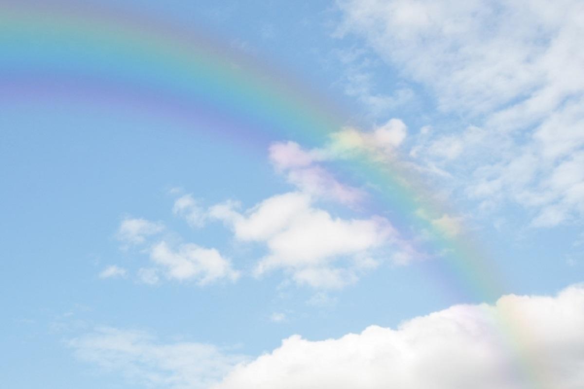 空と虹の写真